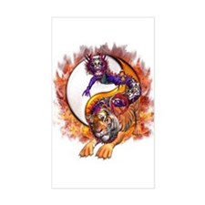 Dragon Tiger Yin Yang Decal