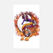 Dragon Tiger Yin Yang Decal