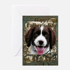 Stone Paws Springer Spaniel Greeting Card
