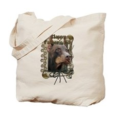 Stone Paws Doberman Tote Bag