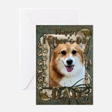 Stone Paws Corgi Greeting Card