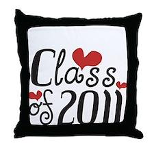 Love (Heart) Class 2011 Throw Pillow