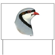 Chukar Partridge Head Yard Sign