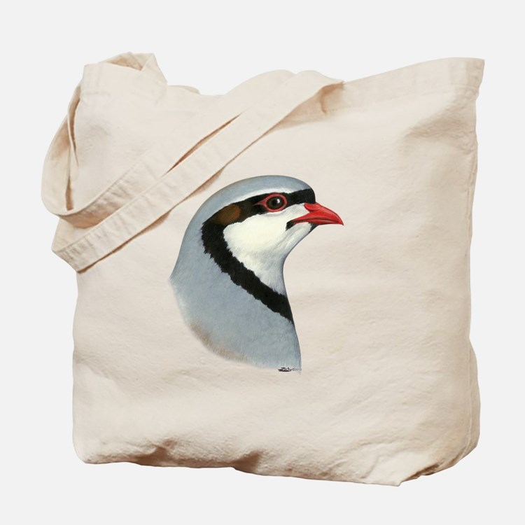 Chukar Partridge Head Tote Bag