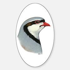 Chukar Partridge Head Sticker (Oval)