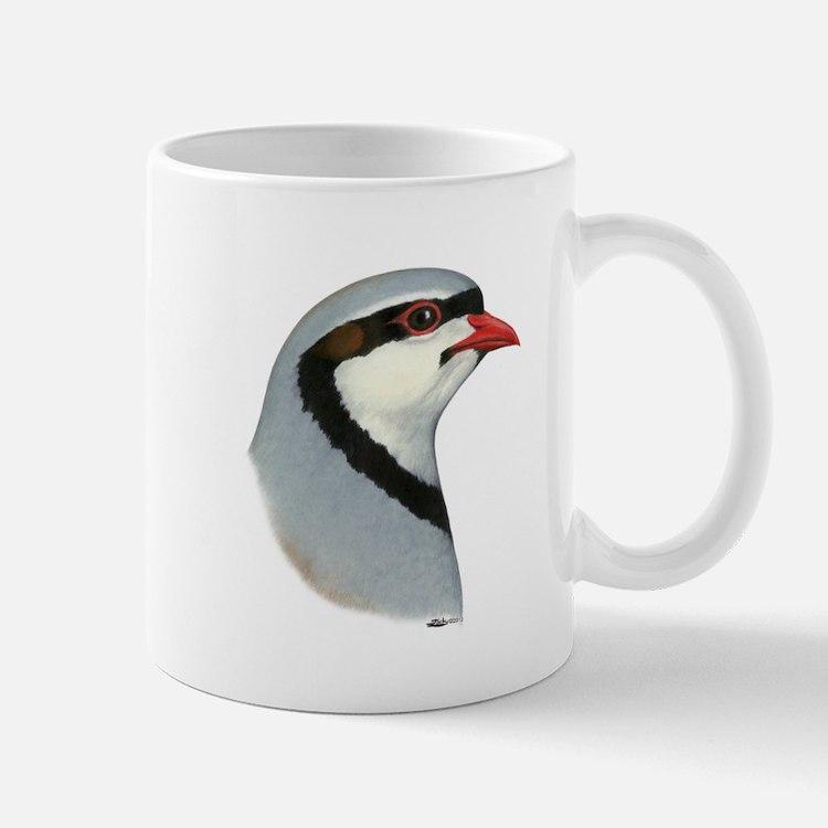 Chukar Partridge Head Mug