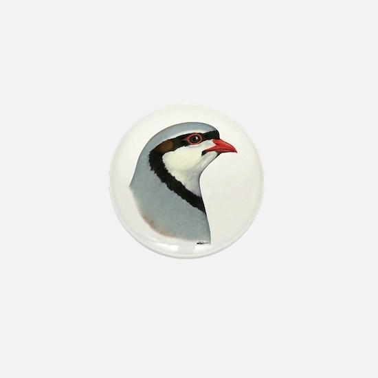 Chukar Partridge Head Mini Button