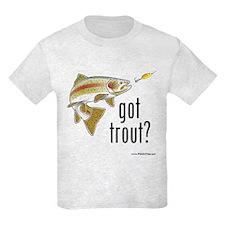 """""""Got Trout?"""" Kids T-Shirt"""