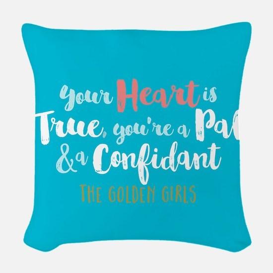 GG Heart Is True Woven Throw Pillow