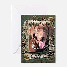 Stone Paws Chocolate Labrador Greeting Card