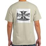 Ash Grey T-Shirt B&W Wagner Iron Cross