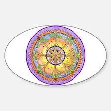 Sundance Tree II Mandala Sticker (Oval)