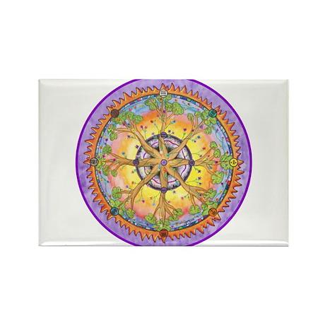 Sundance Tree II Mandala Rectangle Magnet (100 pac