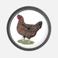 Speckled Sussex Hen Wall Clock