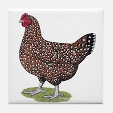 Speckled Sussex Hen Tile Coaster