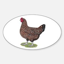 Speckled Sussex Hen Sticker (Oval)