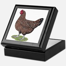 Speckled Sussex Hen Keepsake Box