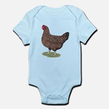Speckled Sussex Hen Infant Bodysuit