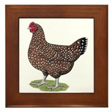Speckled Sussex Hen Framed Tile