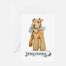 Airedale Good News! Greeting Cards (Pk of 10)