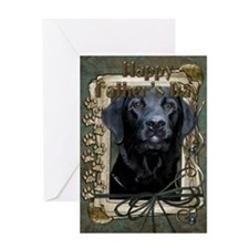 Stone Paws Black Labrador Greeting Card