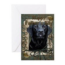 Stone Paws Black Labrador Greeting Cards (Pk of 10