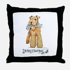 Airedale Good News! Throw Pillow