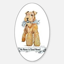 Airedale Good News! Oval Decal