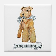 Airedale Good News! Tile Coaster