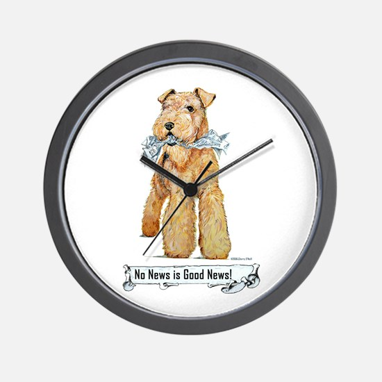 Airedale Good News! Wall Clock