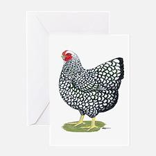 Wyandotte Silver Hen Greeting Card