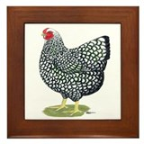 Chickens Framed Tiles