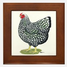 Wyandotte Silver Hen Framed Tile