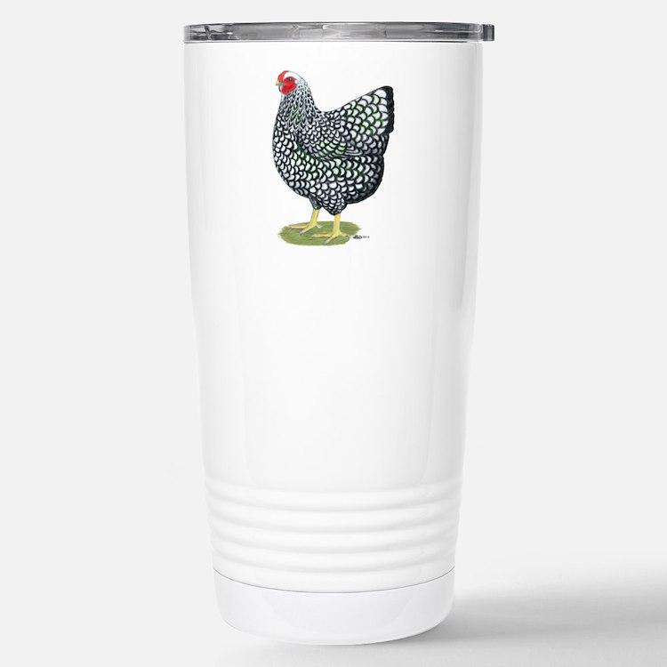 Wyandotte Silver Hen Stainless Steel Travel Mug