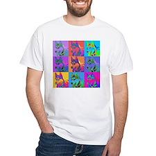 Op Art Siberian Husky Shirt