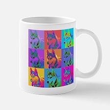 Op Art Siberian Husky Mug