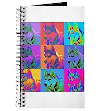 Op Art Siberian Husky Journal