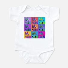 Op Art Siberian Husky Infant Bodysuit