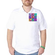Op Art Siberian Husky T-Shirt