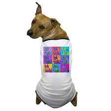 Op Art Siberian Husky Dog T-Shirt
