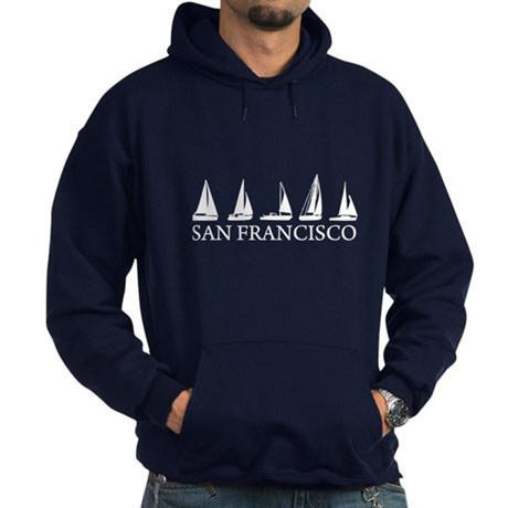 San Francisco Sail Boats Hoodie (dark)