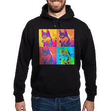 Op Art Siberian Husky Hoodie