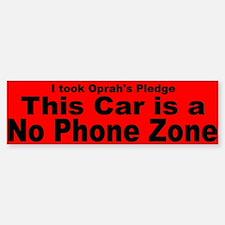 No Phone Zone Bumper Bumper Sticker