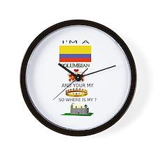 Unique Columbian Wall Clock