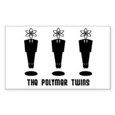 The Polymer Twins Leaping Atoms Decal