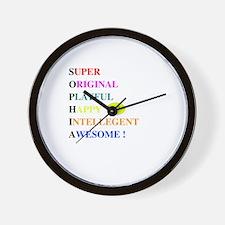 Cute Sophia Wall Clock