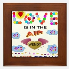 Unique Wendy Framed Tile