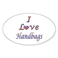 I Love Handbags Decal