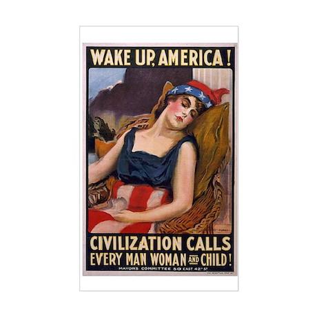 WW1 James Montgomery Flagg WAKE UP Sticker