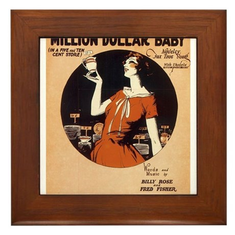 Million $ Baby Framed Tile